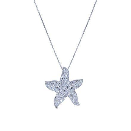 Jewels Obsession Starfish Pendant 27 mm Sterling Silver 925 Starfish Pendant